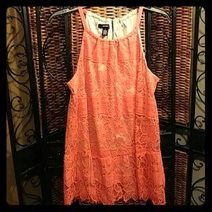 Alfani orange lace top size 8👚